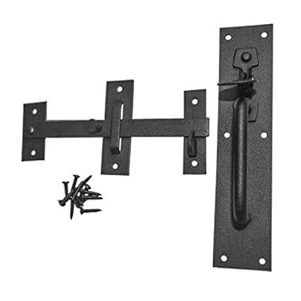 Black Iron Door Latch Lock Set Norfolk Gate Or Door | Renovator's Supply