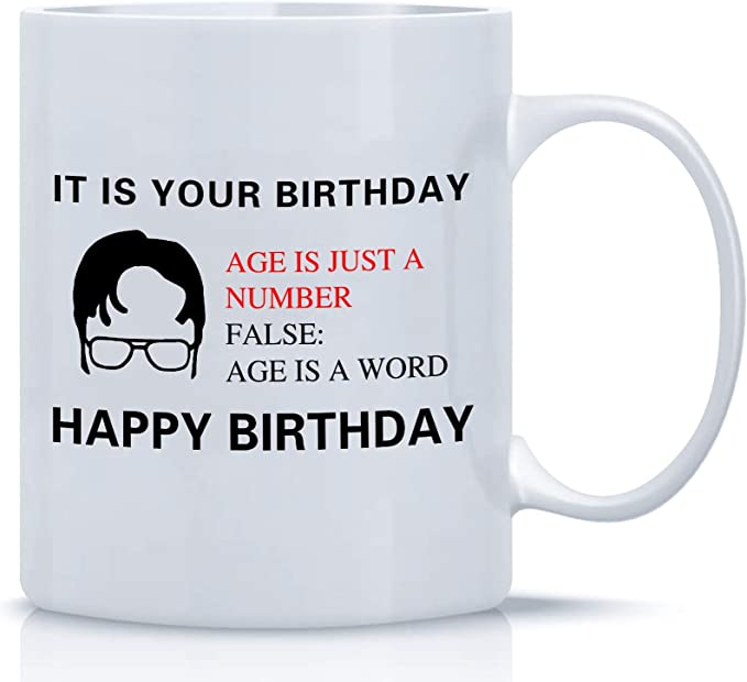 It Is Your Birthday, The Office Coffee Mug, A Coffee Cup Birthday Gift Set For Dwight Schrute Fans