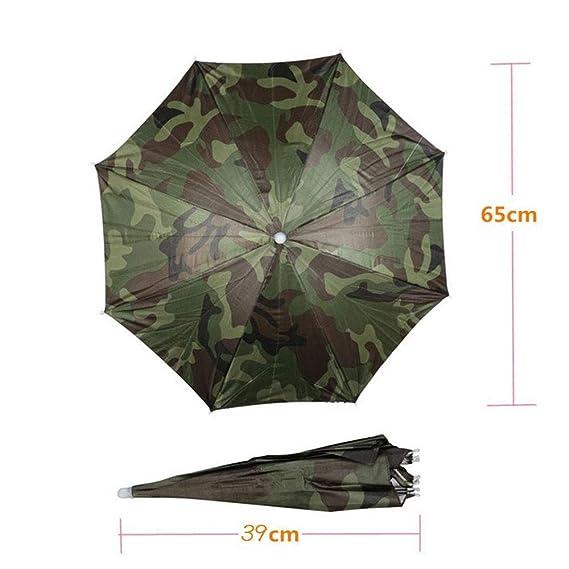 Sombrero Plegable Paraguas de Sol al Aire Libre Golf Pesca Camping Sombreros Cap Cabeza Hat (1pcs).: Amazon.es: Equipaje