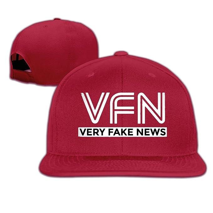 Amazon.com  Quzim Plain Logo Baseball Cap Polo Safari Dad Hat Very Fake News   Clothing 2ef263e63e2a