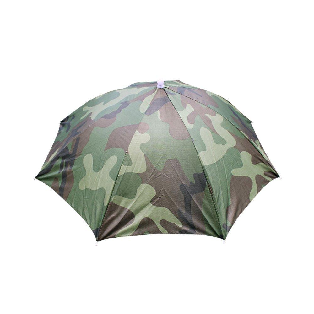 HOSOME Foldable Novelty Umbrella Sun Hat Golf Fishing Camping Umbrella Camouflage