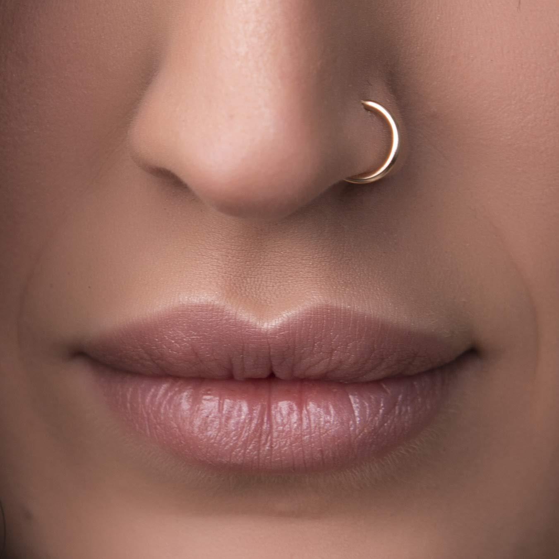 4pcs nicht Piercing Septum Hanger Clip On gefälschte Nasenring Multicolor