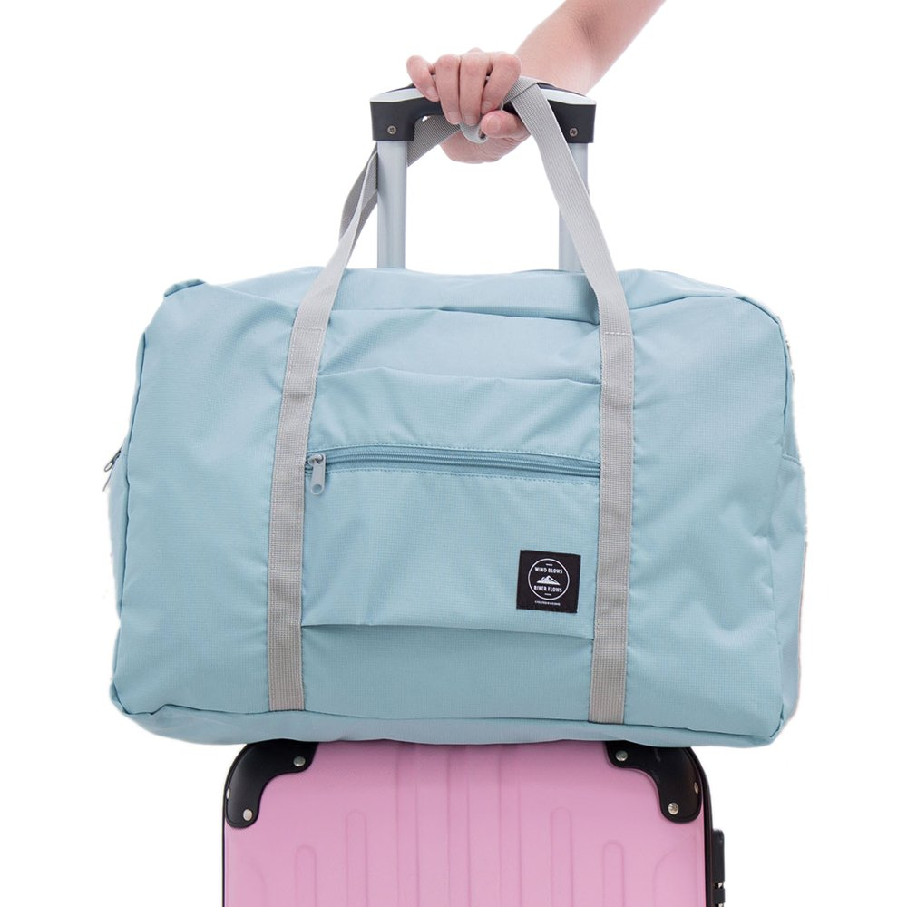 Arxus Travel Lightweight Waterproof Foldable Storage Carry Luggage Duffle Gym Tote Bag (Mint Green) Ltd YT011-1-Mint Green