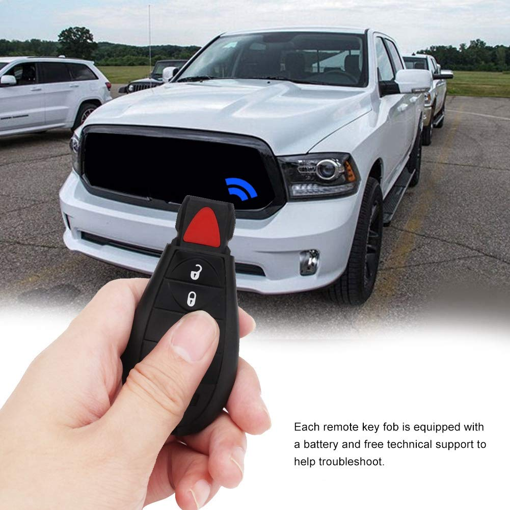 Terisass M3N5WY783X 2 Pcs Car Keyless Smart Remote Control Key Fob 2+1 Button IYZ-C01C for Dodge Challenger Grand Caravan Jeep Commander Grand Cherokee Charger Durango Chrysler
