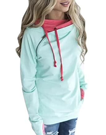 269ad079 ISSHE Women's Pullover Hoodies Sweatshirts For Women Womens Funnel ...