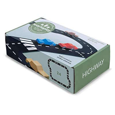 waytoplay 8717953201645 starterset Highway, 24 Pieces, Black with White Striping: Toys & Games