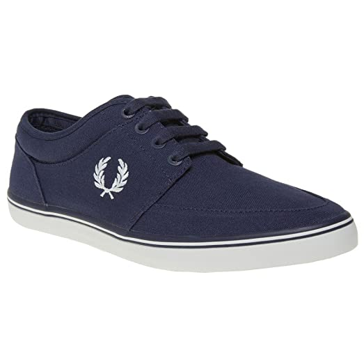 FRED PERRY Stratford Canvas Mens Sneakers Blue