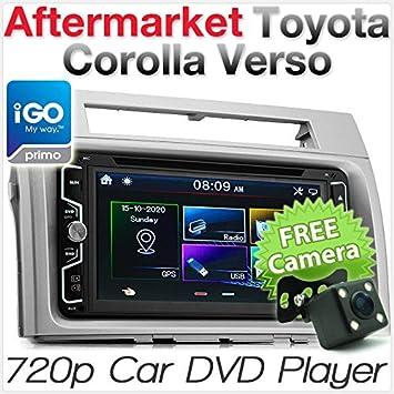 Toyota Corolla Verso - Unidad de Reproductor de DVD GPS para Coche, Radio estéreo, USB, 7 Pulgadas: Amazon.es: Electrónica