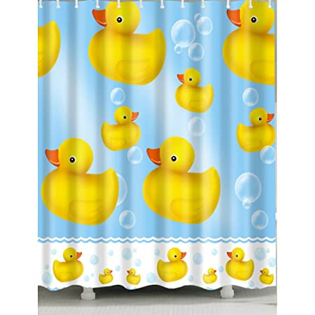 Little Yellow Duck Shower Curtain 1 Pc For Home And Bath Amazoncouk Kitchen
