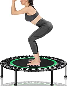 DARCHEN 450 lbs Mini Trampoline for Adults, Indoor Small Rebounder Exercise Trampoline for Workout Fitness for Quiet and Safely Cushioned Bounce, [40 Inch]