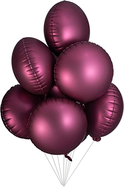 50-Pack 12-Inch Burgundy Topenca Supplies Party Solid Metallic Latex Balloons