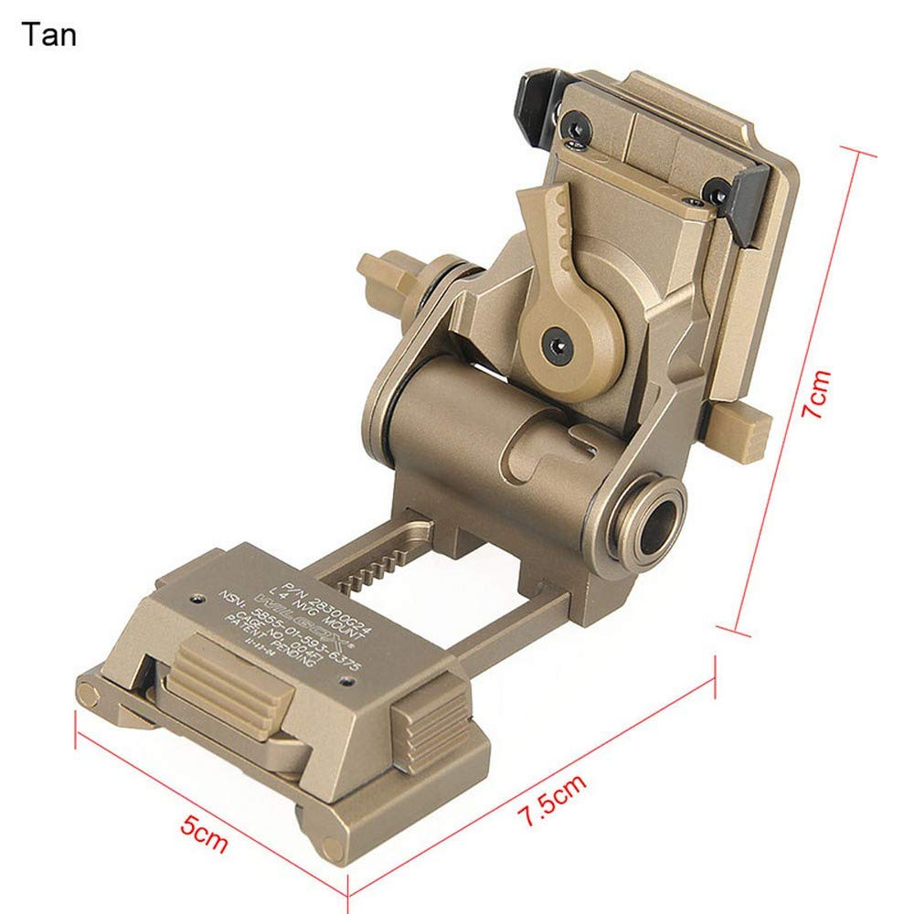 Hengyuanyi CNC PVS15/18 Night Vision Goggles Mount for L4G24 NVG Metal Helmet Mount, Sand Color by Hengyuanyi