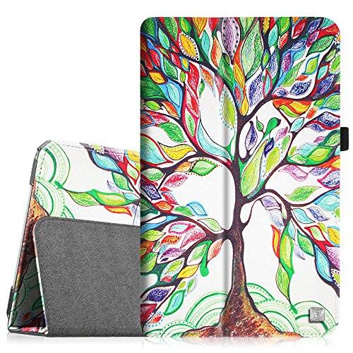 Fintie Samsung Galaxy Tab E 9.6 Folio Case - Slim Fit Premium Vegan Leather Cover for Samsung Tab E / Tab E Nook 9.6-Inch Tablet (SM-T560 / T561 / T565 & SM-T567V Verizon 4G LTE Version), Love Tree