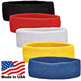 Unique Sports Headbands (Pack of 5), Multicolor, One Size