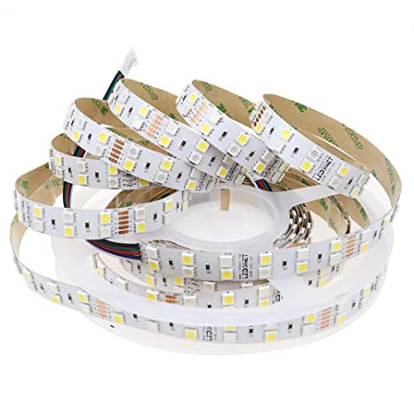 100% authentic 49fe0 a19f4 LEDENET 16.4FT Double Row SMD 5050 RGBW Color Changing Flexible LED Strip  DC 24V 5M 600LEDs Non-Waterproof RGB White LED Ribbon Tape Lamp (RGBW LED  ...