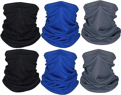 Cinnamou 1 Set Unisex Multifunktionstuch Gesichtsmask Schal Motorradmaske Masken Motorrad Schlauchschal Damen Herren Sommer Face Bandana Loop Kopftuch Sturmmaske Sport Mask Fahrradmaske Drei Farbe Auto