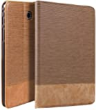 "Qinda Luxury Leather Smart Flip Case cover for Samsung Galaxy Tab A 8.0 8"" T350, T355, T351 (Sleep/Wake) (Light Brown)"