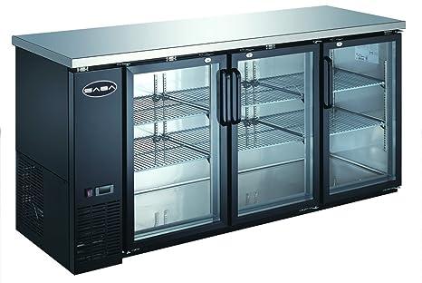 Nice UBB 24 72G 72u0026quot; Narrow Glass Door Back Bar Cooler Stainless Steel Top