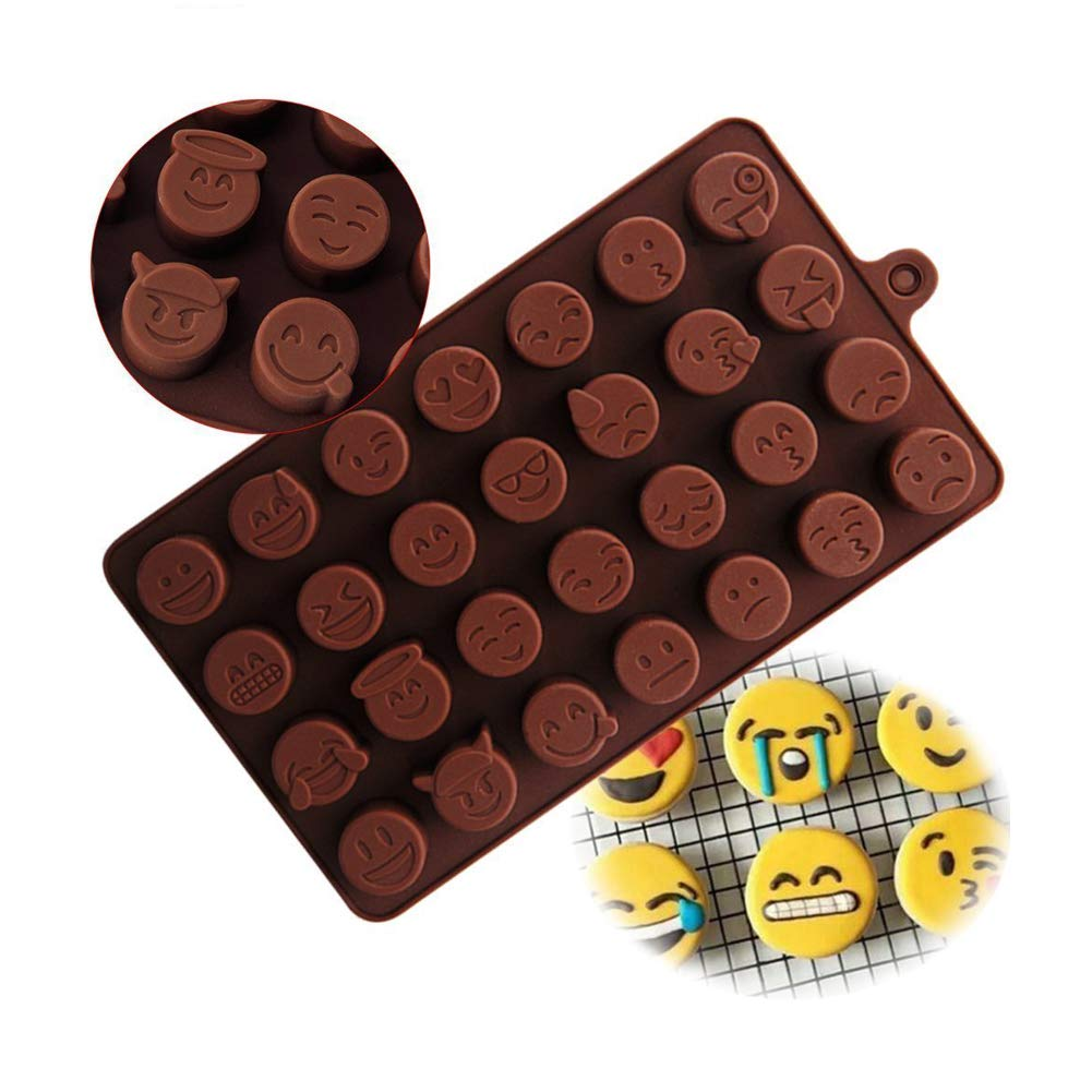 HENGSONG Chocolate Mould Emoji Mould Silicone Jelly Candy Cake Sugar Silicone Molds DIY Funny mei_mei9