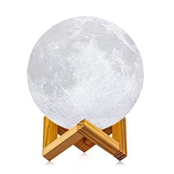 Lights & Lighting Led Lamps Usb Table Lamps 3d Print Moon Lamp Rechargeable Power 16 Colors Luna Magic Touch Moonlight With Controller Bedroom Home Decor