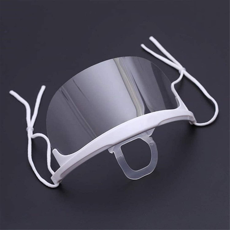 PANGHU 10 PCS Visi/ère de Protection R/éutilisable Transparent Protection Visage Anti-Salive Anti-Eclaboussure Couvre Bouche et Nez Facial Protectio pour Homme Femme