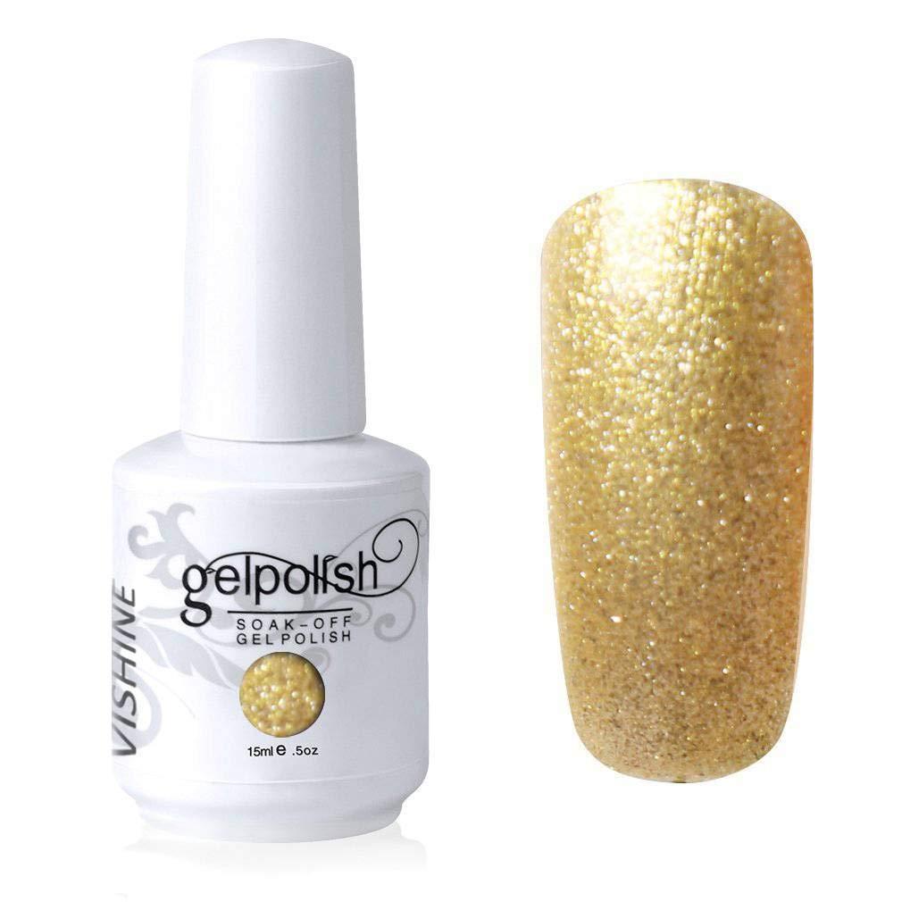Vishine Nail Salon UV Manicure Polish Soak Off Gel Polish Nail Art Yellow(750)