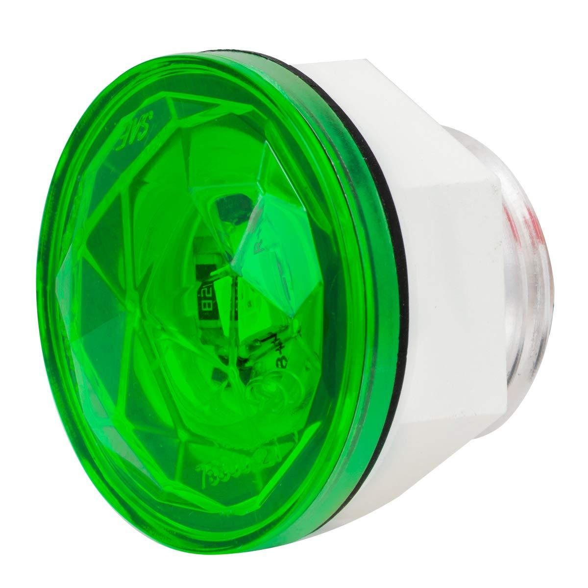 Grand General 75306 Light 1-1//4 Green Diamond Lens 1 LED Interior with Nut