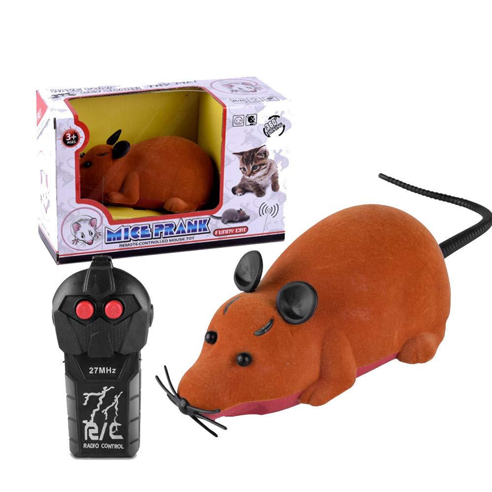 Bescita Elektrische Drahtlose Fernbedienung RC Ratte Maus Spielzeug Haustier-Katzen Spielzeug Maus für Haustiere Kinder Geschenk