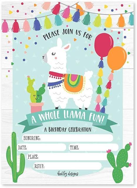 Amazon.com: 25 invitaciones de fiesta de cumpleaños para ...