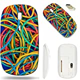 MSD Wireless Mouse White Base Travel 2.4G Wireless Mice with USB Receiver, Noiseless and Silent Click with 1000 DPI for notebook, pc, laptop, computer, mac book design 30589539 Colorful rubber bands o