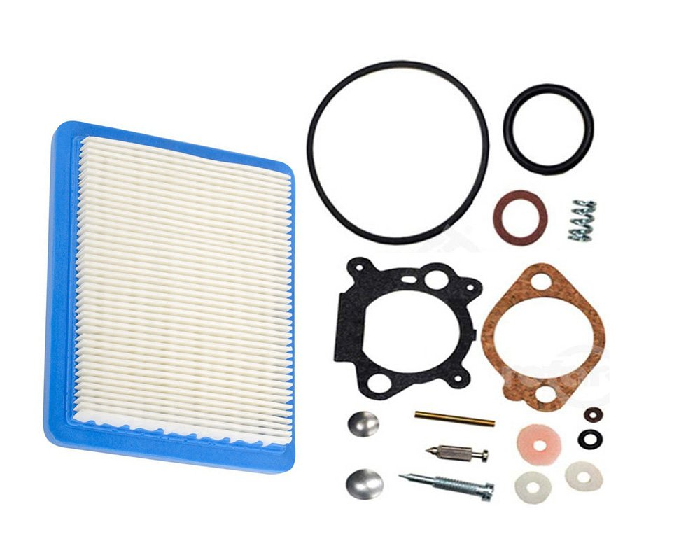 OuyFilters 498260 Carburetor Overhaul Kit With Air Filter for Briggs & Stratton 3.5HP 4HP Max Series Engine Replace 493762 490937