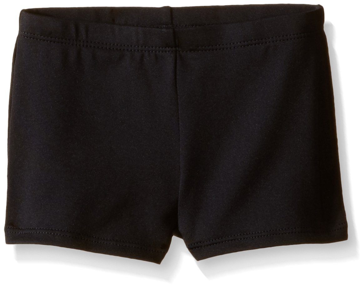 Jacques Moret Little Girls' Gymnastics Micro Short, Black Solid, X-Small