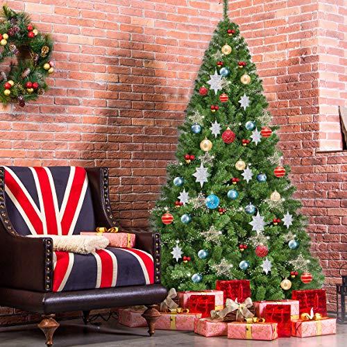 Space Item 7.5FT PVC Artificial Christmas Tree 1346 Tips Premium Hinged w/Solid Metal Leg