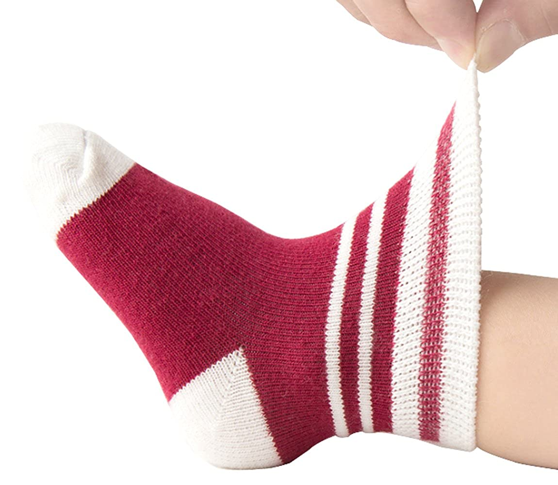 Ding-dong Baby Toddler Kid Girl Boy Striped Socks 5 Pack