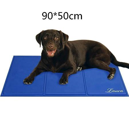 lauva Hund Cool Matte, Hunde selbst Kühlung Gel-Matte Pads Pet Cat Cool Betten für Hundeboxen, Zwinger und Betten