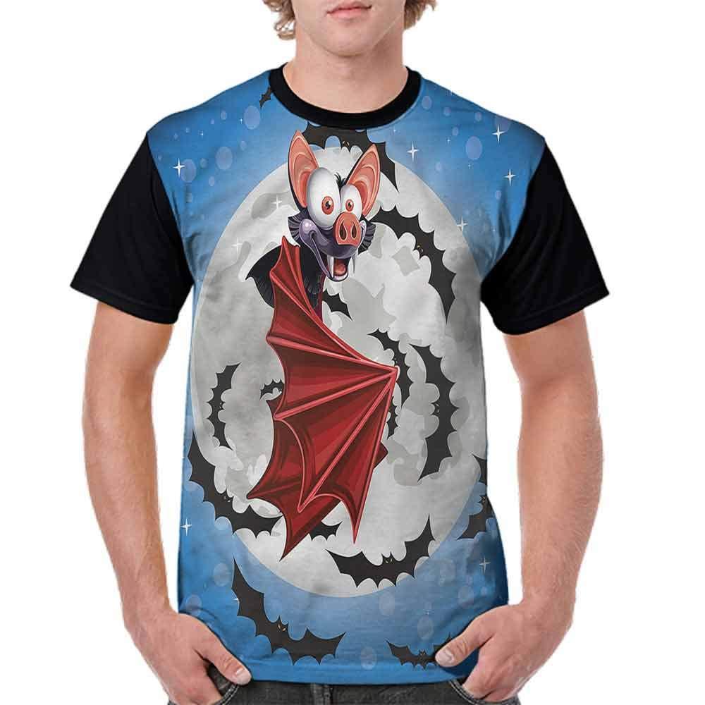 BlountDecor Cotton T-Shirt,Hearts and Swirls Fashion Personality Customization