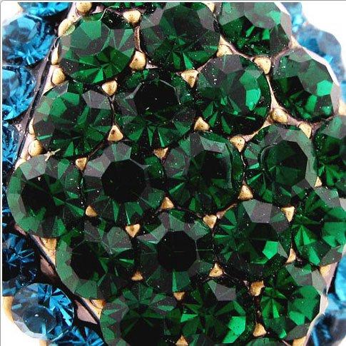 Crystalmood LUX Swarovski Rhinestone Diamond shape Ring Green