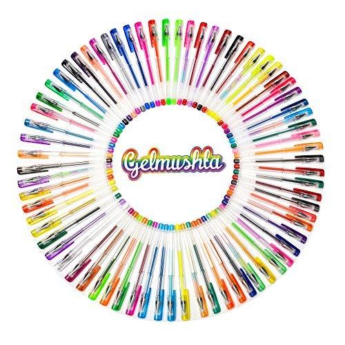 Gelmushta 72 Unique Colors (No Duplicates) Gel Pens Set for Adult Coloring Books with Case Photo #6
