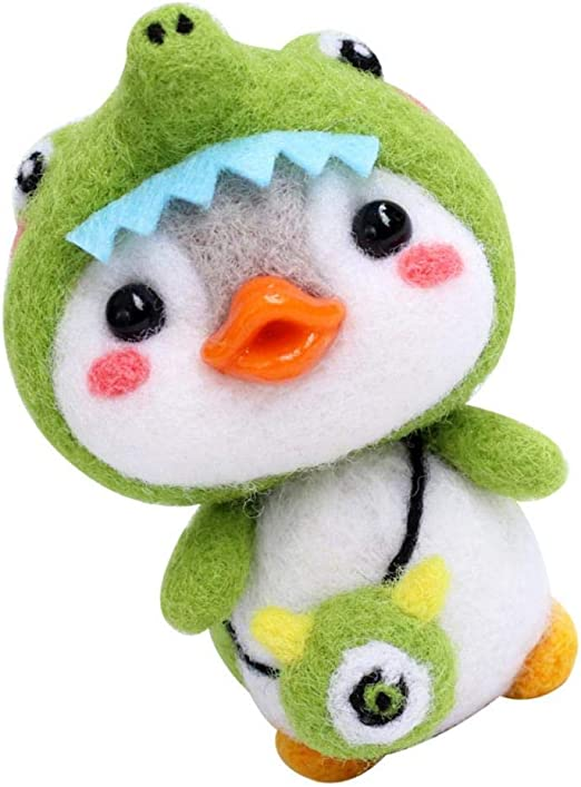 Märchenwolle Set Penguin Filztier Trockenfilzen Starterset Filzwolle