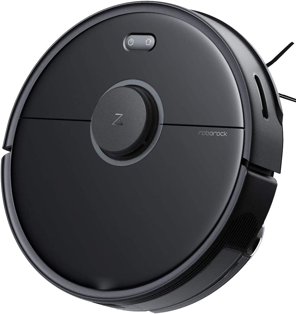 Roborock S5 MAX Robot Vacuum and Mop Robotic Vacuum Cleaner with E-Tank Lidar Navigation Selective Room Cleaning Super Powerful Suction and No-mop Zones Works With Alexa (Black)