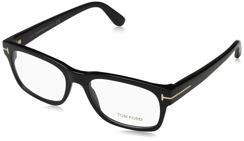 474ffc58fe12 Tom Ford Men s Eyeglasses TF5432 TF 5432 001 Shiny Black Gold Optical Frame  54mm at Amazon Men s Clothing store