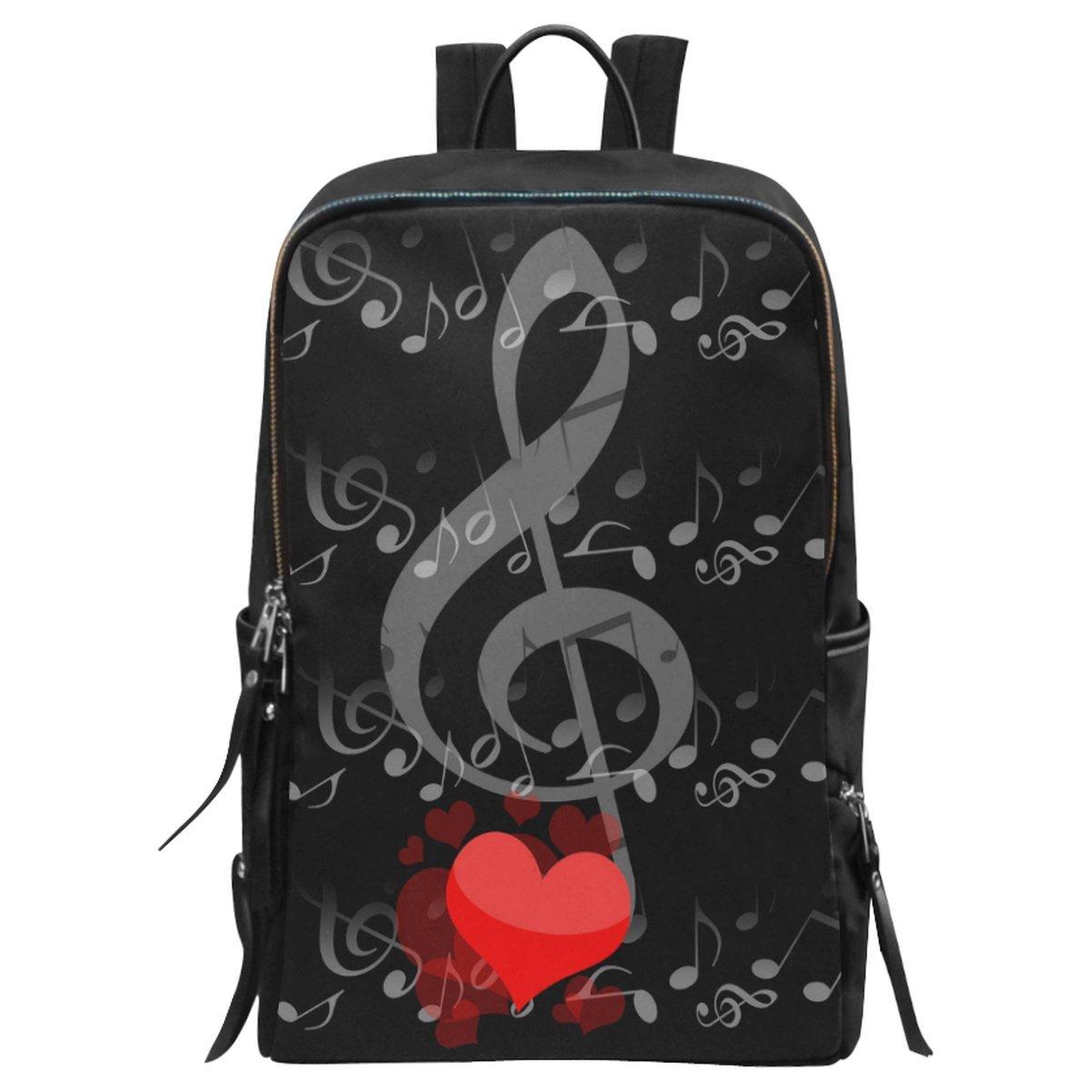 InterestPrint Music Notes Love School Casual Travel Backpack School Bag Travel Daypack by InterestPrint (Image #1)