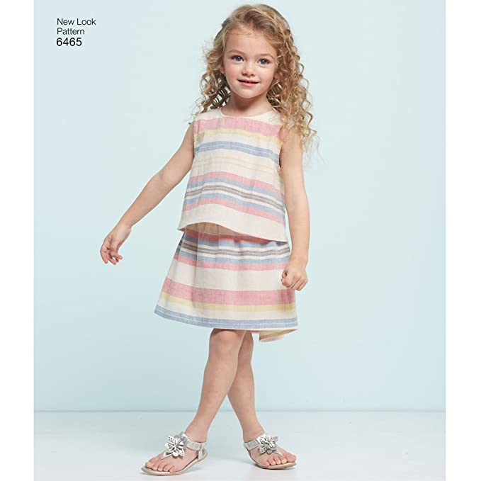 Amazon.com: NEW LOOK Patterns Childs Easy Top, Skirt and Shorts A (3-4-5-6-7-8) 6465