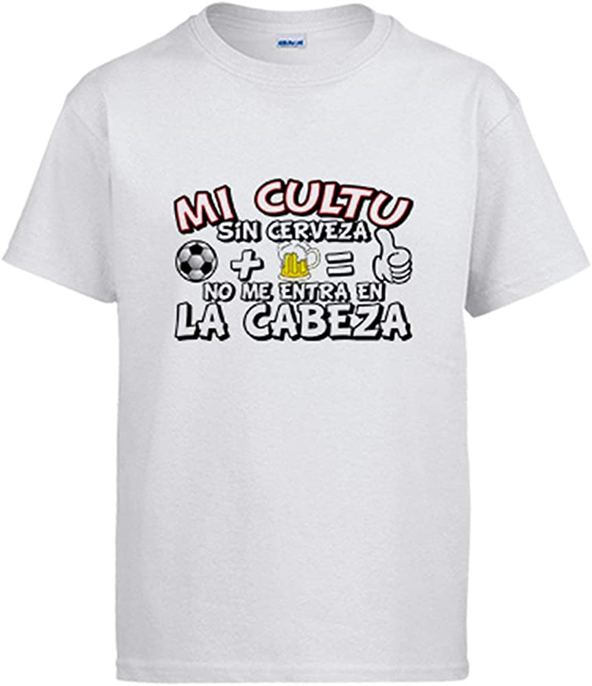Camiseta Mi Cultu sin Cerveza no me entra en la Cabeza - Blanco, 3-4 años: Amazon.es: Ropa y accesorios