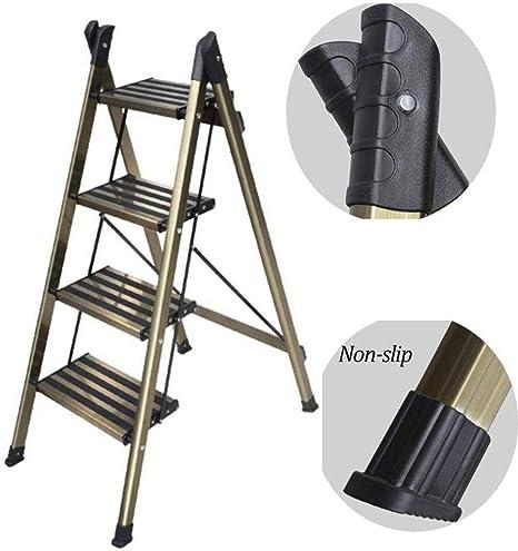 ANXWA Taburete con Escalera Multifunción Escalera Pequeña para El Hogar Plegable De Aluminio Grueso Soporte De Flores Almacenamiento Portátil Escalera para Mascotas 2 Pasos,3-Step: Amazon.es: Hogar
