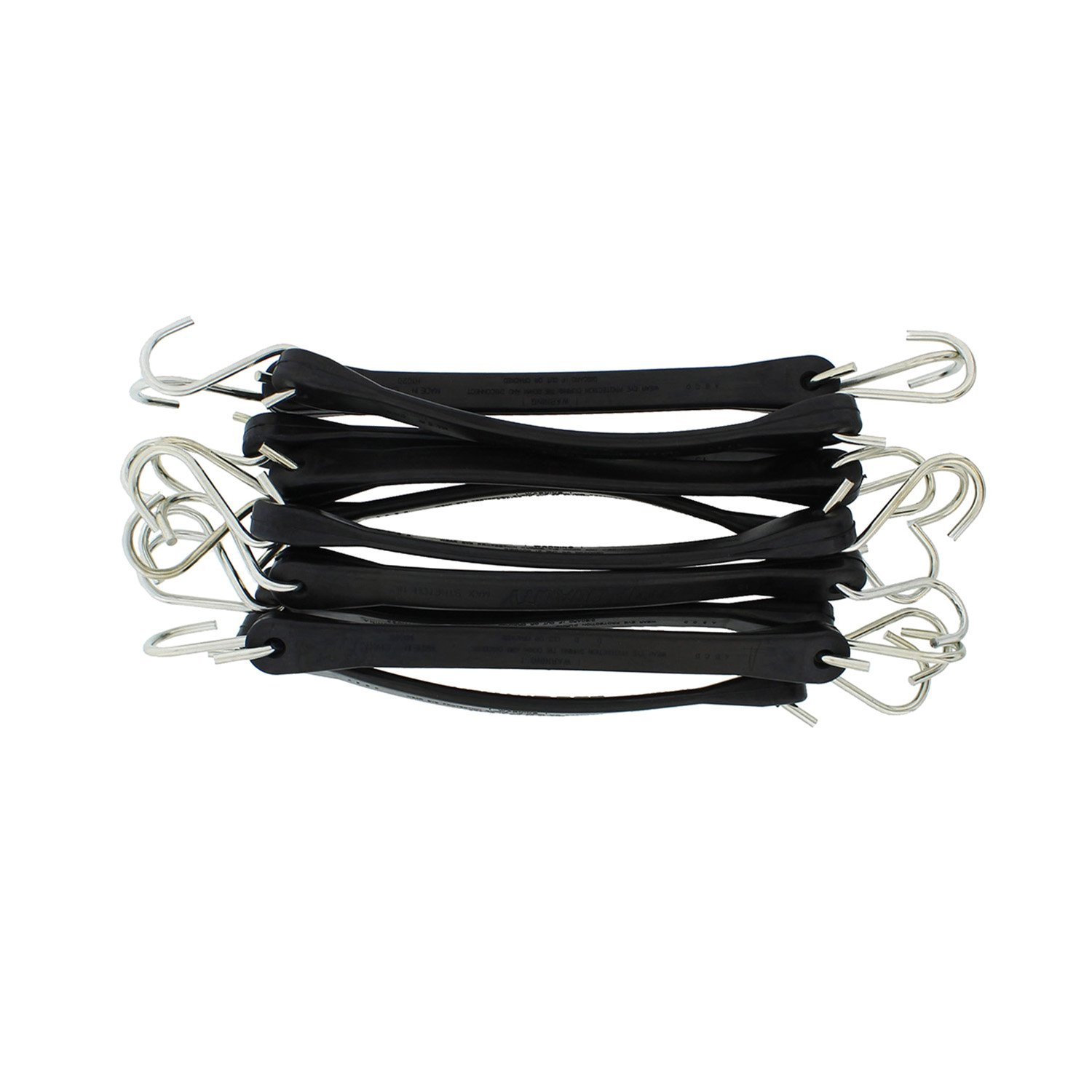 ABN EPDM Bungee Cords with Hooks 50pk, 10'' Inch (18'' Max Stretch) - Heavy Duty Bungee Cord Set, Bungee Tie Downs