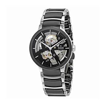 rado men s centrix 38mm two tone ceramic band steel case automatic rado men s centrix 38mm two tone ceramic band steel case automatic skeleton dial analog watch r30178152