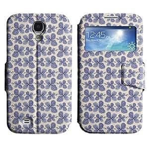 LEOCASE círculo azul Funda Carcasa Cuero Tapa Case Para Samsung Galaxy S4 I9500 No.1003619