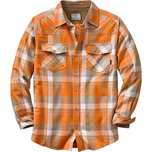 Legendary Whitetails Men's Shotgun Western Flannel Burnt Orange Large
