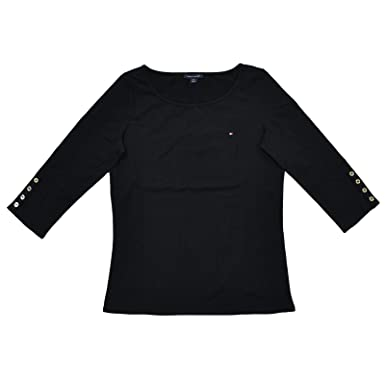 eefc4e99 Tommy Hilfiger Womens 3/4 Sleeve Boat Neck Top at Amazon Women's ...